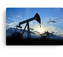 pump-jack group Canvas Print