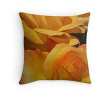 Fire roses Throw Pillow