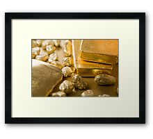 fine gold Framed Print