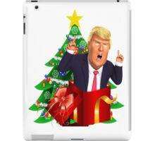 Funny Donald Trump Christmas Present Tree Holiday Nasty Women Deplorables Gag Gift Republican Democrat 2016 Election President  iPad Case/Skin