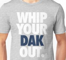 Whip Your Dak Out. (WHITE/BLUE) Unisex T-Shirt