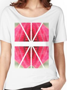 Pink leaf Women's Relaxed Fit T-Shirt