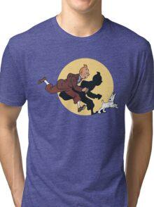 Tin tin & Snowy Tri-blend T-Shirt