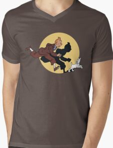 Tin tin & Snowy Mens V-Neck T-Shirt