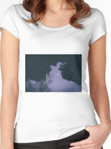 Silent moon Women's Fitted Scoop T-Shirt