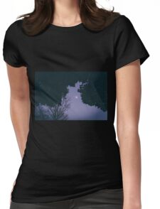 Silent moon Womens Fitted T-Shirt