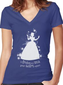 A Dream is a Wish... Women's Fitted V-Neck T-Shirt
