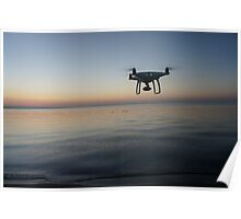 Drone sunset Poster
