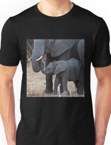 Love & Trust - Mother & Baby African Elephants Unisex T-Shirt
