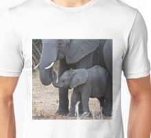 Love & Trust - Mother & Baby African Elephants Unisex T-Shirt