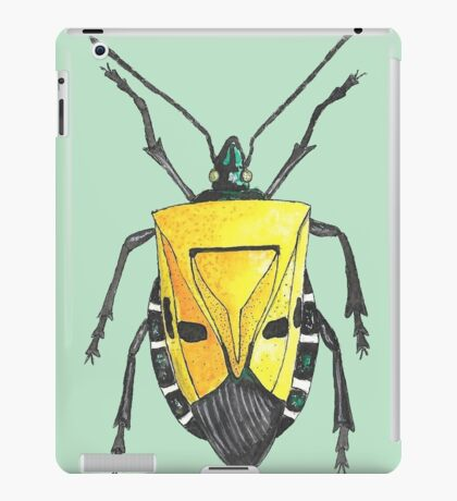 Yellow insect drawing iPad Case/Skin