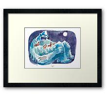 Yeti Mountain Framed Print