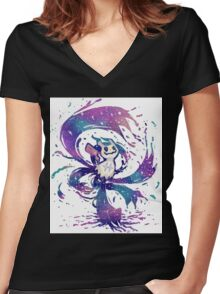 Mimikyu Used Never Ending Nightmare!! Women's Fitted V-Neck T-Shirt