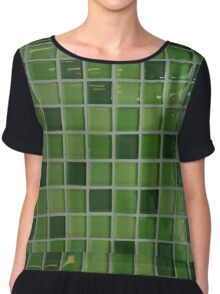 Green Tiles Chiffon Top