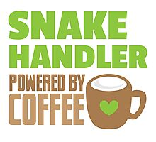 Snake handler powered by coffee Photographic Print