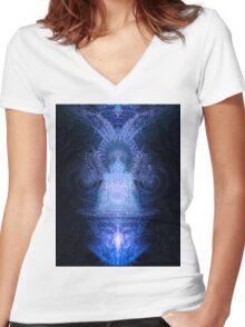 Deimatic Deity Women's Fitted V-Neck T-Shirt