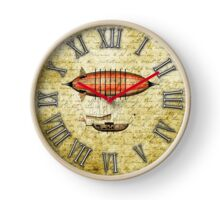Vintage Steampunk Clock No.7, Elegant Vintage Steampunk Airship Clock
