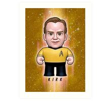 Kirk - Star Trek Caricature Art Print