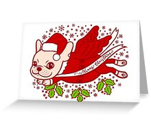 Christmas with a Frenchie Greeting Card