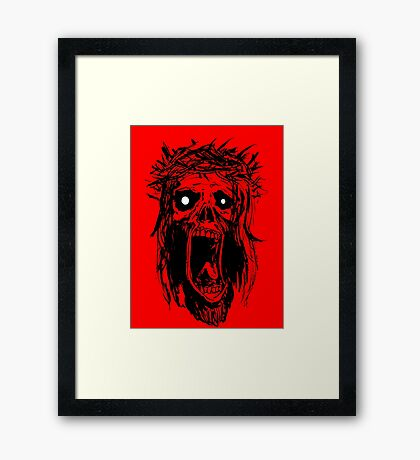 Sweet Zombie Jesus!!! Framed Print