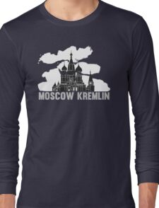 Moscow Kremlin Skyline Long Sleeve T-Shirt