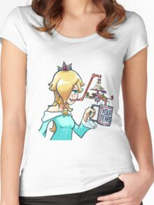 Rosalina drinks Women's Fitted Scoop T-Shirt
