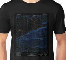 USGS TOPO Map Arkansas AR Mulberry 259193 1987 24000 Inverted Unisex T-Shirt