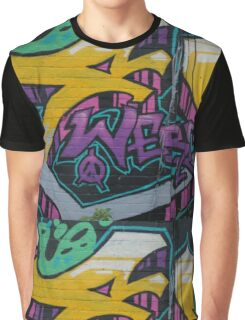 Colourful Wall Art Graphic T-Shirt