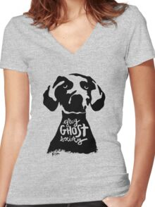 Grey Ghost Society : Original Women's Fitted V-Neck T-Shirt