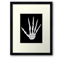 Skeleton Hand Framed Print