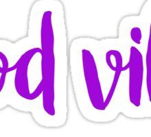 good vibes free spirit people trendy laptop sticker Sticker