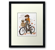 Autumn ride Framed Print