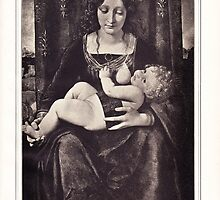 The Madonna and Child vintage engraving by #Palluch #Art