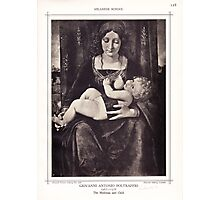 The Madonna and Child vintage engraving Photographic Print