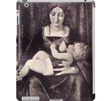 The Madonna and Child vintage engraving iPad Case/Skin