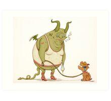 A demon and his dog... Art Print