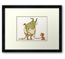 A demon and his dog... Framed Print