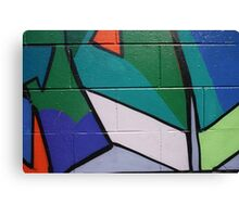 Geometric wall are Canvas Print