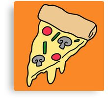 Melted Cheese Pizza Canvas Print