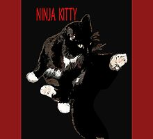 NINJA KITTY by paula cattermole artinapuddle