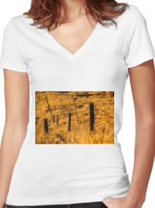 Sunny Field/ Crop - Nature Photography Women's Fitted V-Neck T-Shirt