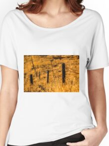Sunny Field/ Crop - Nature Photography Women's Relaxed Fit T-Shirt