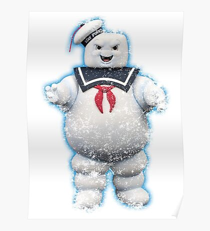 Vintage Stay Puft Marshmallow Man Poster