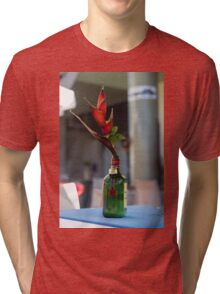 Red Heliconia/Birds of Paradise Flower - Nature Photography Tri-blend T-Shirt