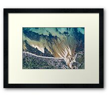 SOUTH COAST AERIAL Framed Print