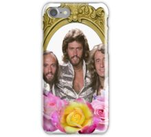 Bee Gees framed with flowers iPhone Case/Skin