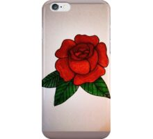 Traditional Bright Coloured Rose iPhone Case/Skin