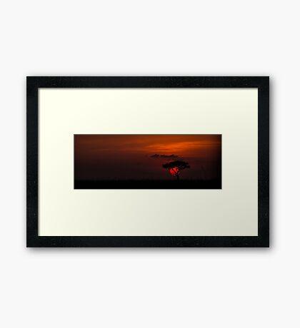 MASAI MARA SUNSET Framed Print