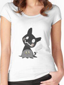 Pokemon Sun / Moon - Happy Mimikyu :) Women's Fitted Scoop T-Shirt