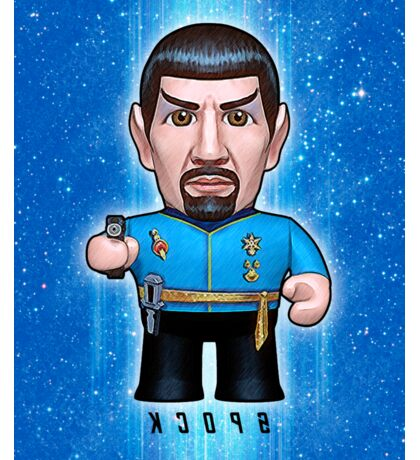 Mirror Spock - Star Trek Caricature Sticker